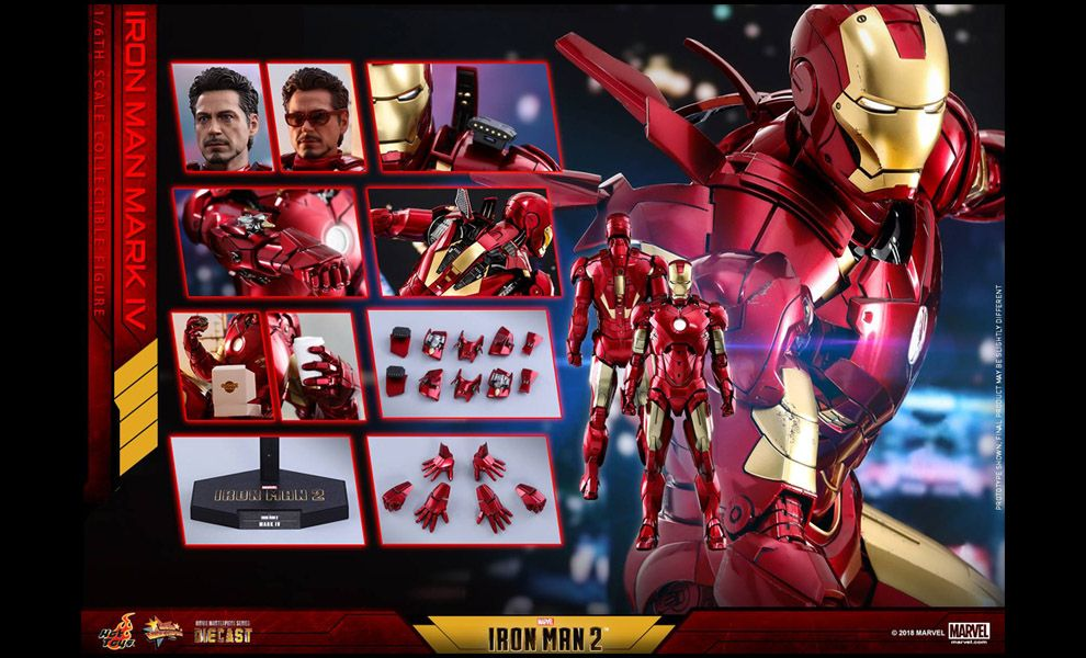 HOT TOYS MMS461D21 IRON MAN 2 MARK IV DIECAST NORMAL