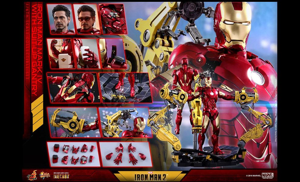 HOT TOYS MMS462D22 IRON MAN 2 IRON MAN MARK IV WITH SUIT UP GANTRY