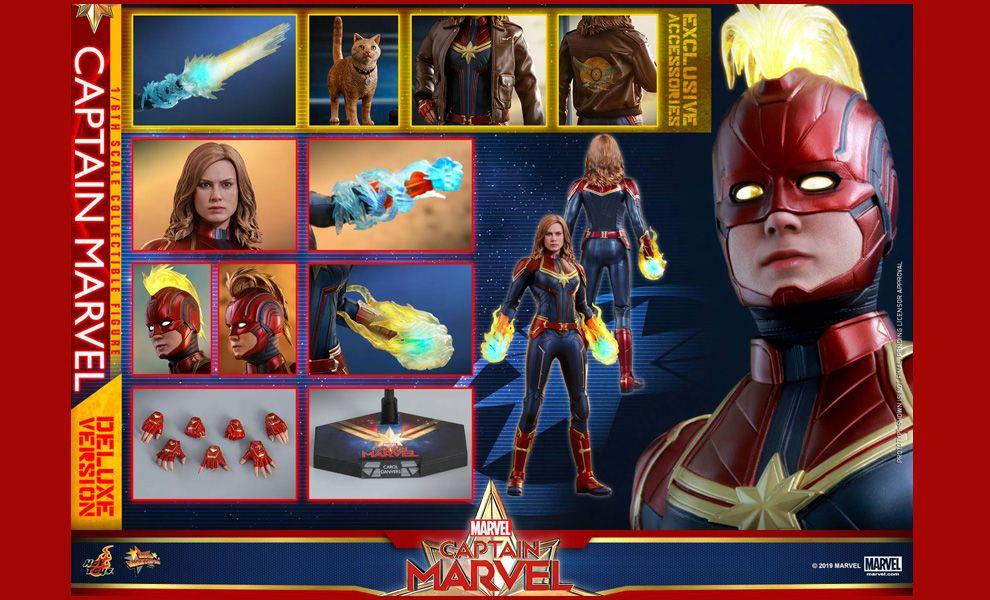Hot Toys MMS522 Captain Marvel Captain Marvel Deluxe Version