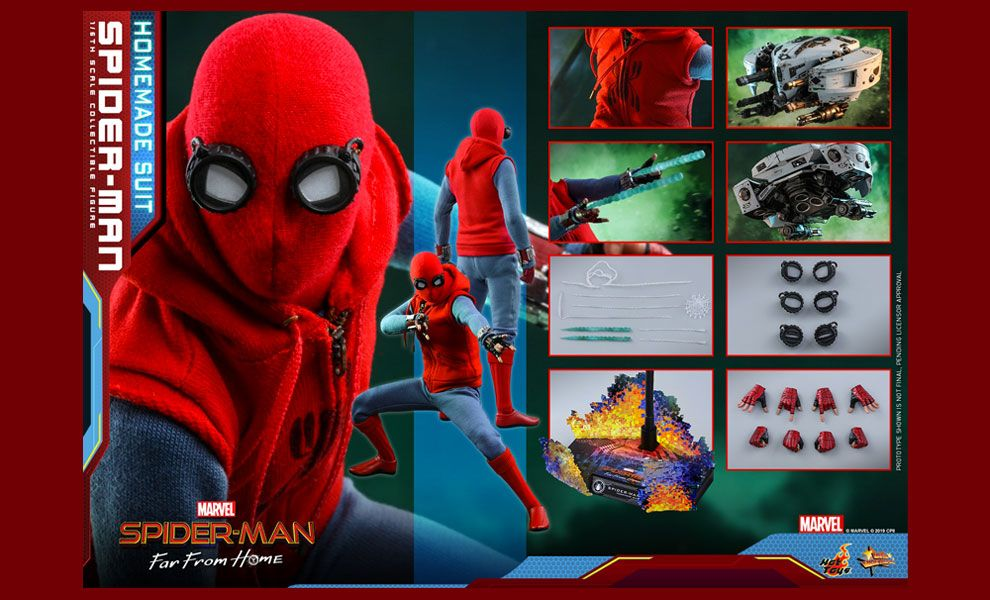 HOT TOYS MMS552 Spider-Man Far From Home Spider-Man Homemade Suit Banner