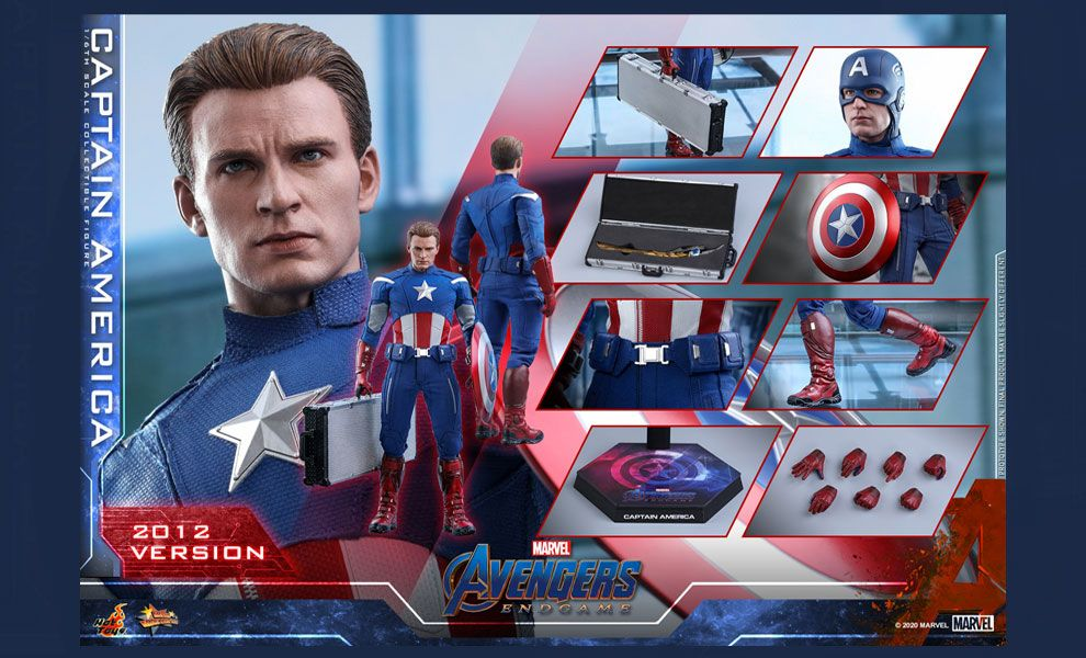 HOT TOYS MMS563 Avengers Endgame Captain America 2012 Version
