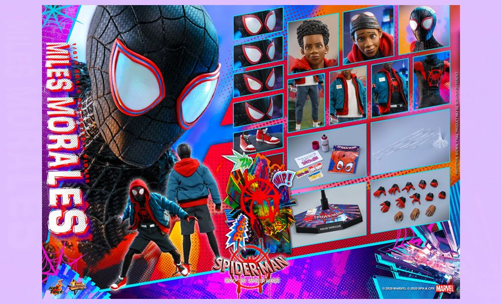 Hot Toys MMS567 Spider-Man Into the Spider-Verse Miles Morales Banner