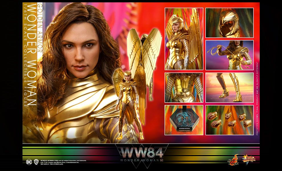 Hot Toys MMS577 Wonder Woman 1984  Golden Armor Wonder Woman BANNER
