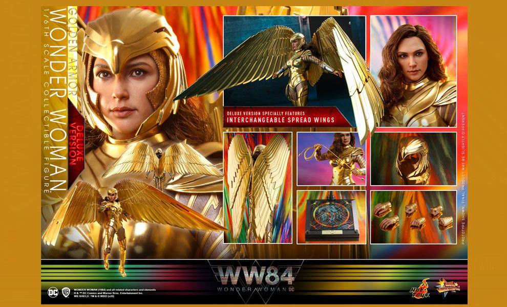 Hot Toys MMS578 Wonder Woman 1984  Golden Armor Wonder Woman Deluxe Version BANNER