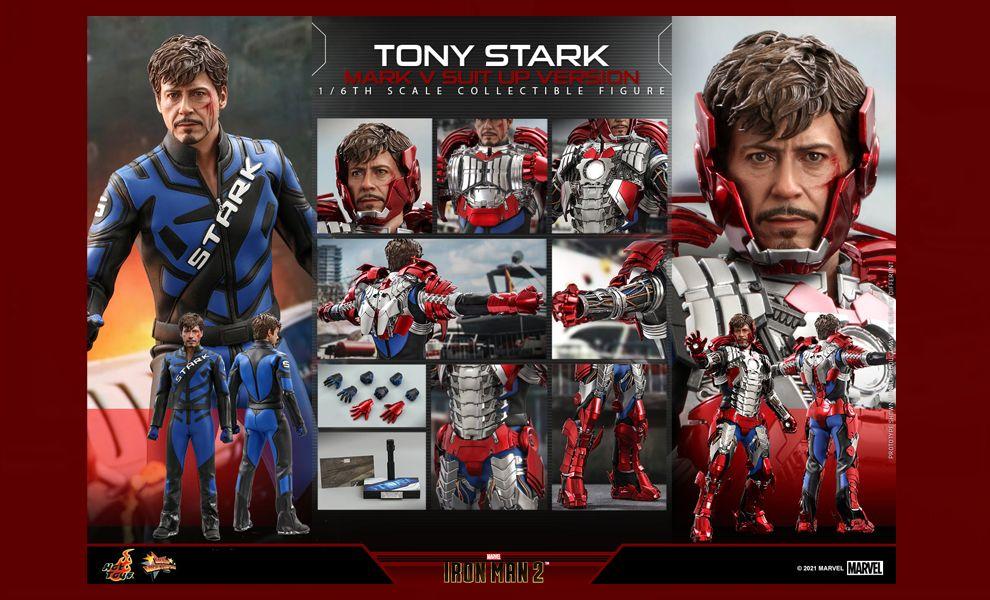 Hot Toys MMS599 Iron Man 2 Tony Stark Mark V Suit up Version Banner
