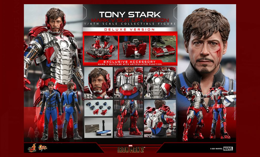 Hot Toys MMS600 Iron Man 2 Tony Stark Mark V Suit up Version Deluxe Version Banner