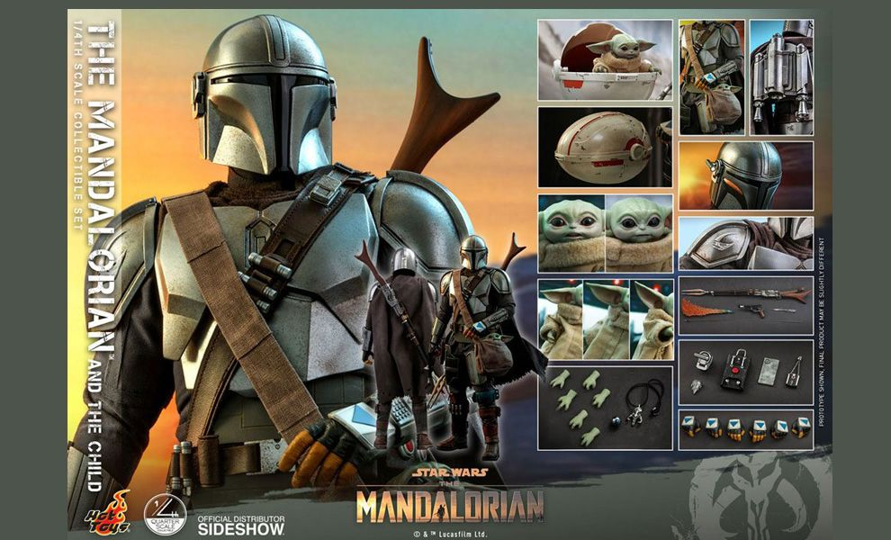 Hot Toys QS016 The Mandalorian & The Child Star Wars The Mandalorian BANNER