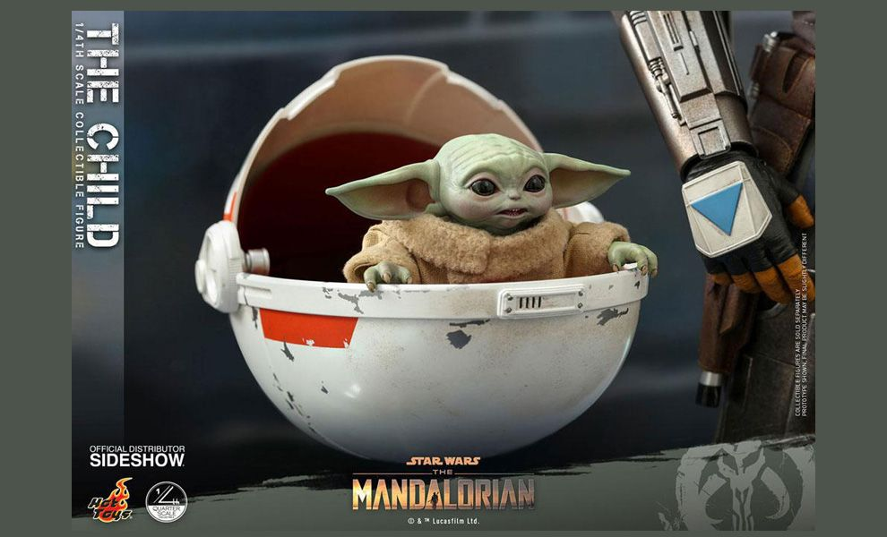 HOT TOYS QS018 THE CHILD 1/4 STAR WARS THE MANDALORIAN BANNER