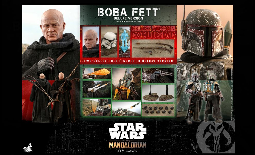 HOT TOYS STAR WARS THE MANDALORIAN BOBA FETT DELUXE SET banner