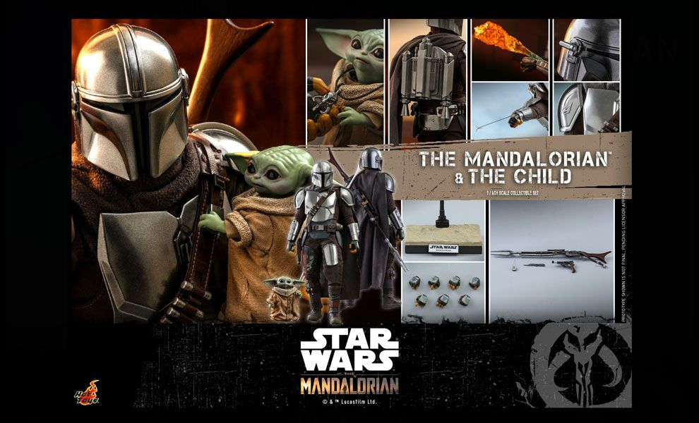 HOT TOYS TMS014 The Mandalorian The Mandalorian and The Child