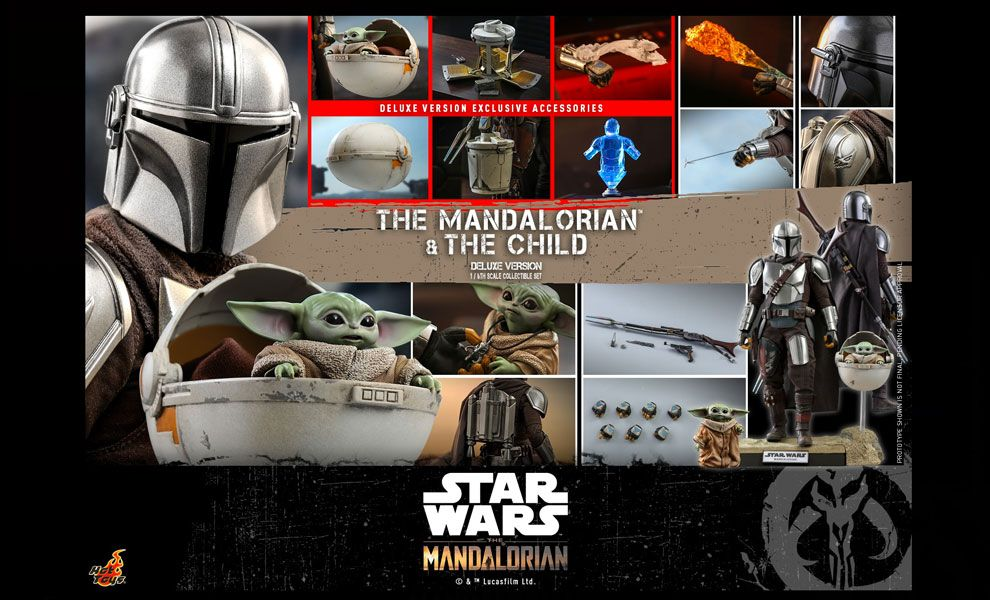 HOT TOYS TMS015 The Mandalorian The Mandalorian and The Child Deluxe Banner
