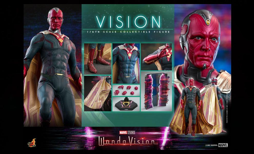 HOT TOYS TMS037 WANDAVISION VISION BANNER