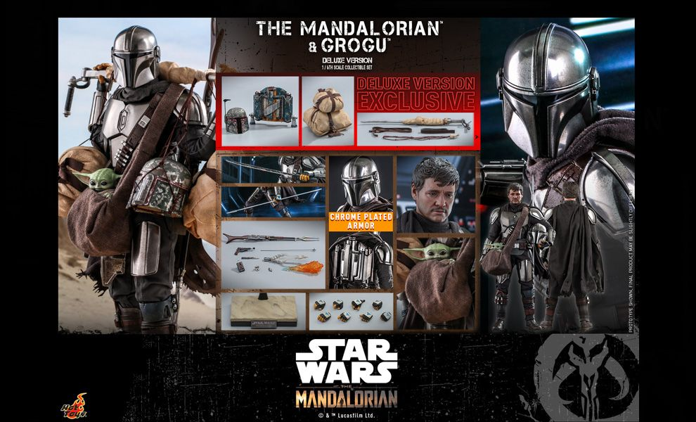 Hot Toys TMS052 Star Wars The Mandalorian The Mandalorian and Grogu Deluxe Version Banner