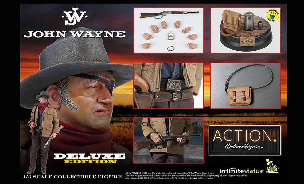 INFINITE STATUE JOHN WAYNE 1/6 DELUXE ACTION FIGURE KAUSTIC PLASTIK BANNER