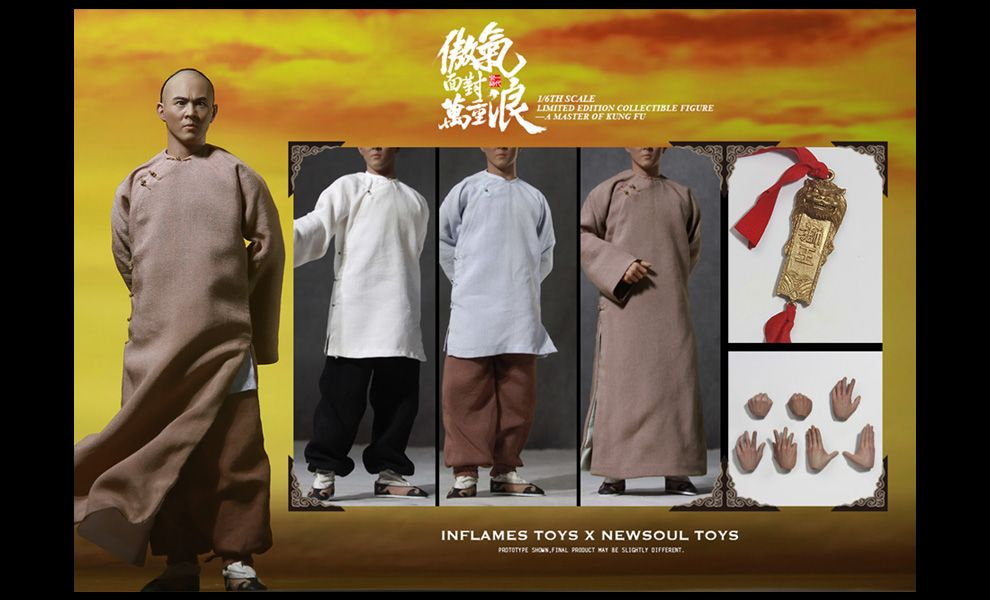 INFLAMES TOYS IFT-023 A MASTER OF KUNG FU JET LI 1/6 COLLECTIBLE FIGURE