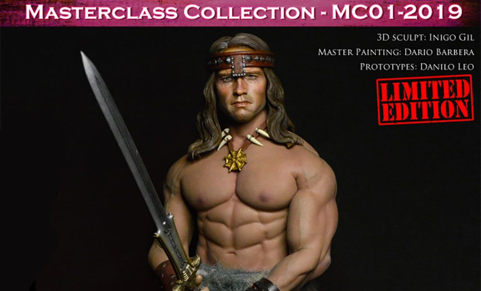 Kaustic Plastik MC01-2019 MC01-HEAD Masterclass Collection Kit Conan With Body Tbleague M35 The Barbarian