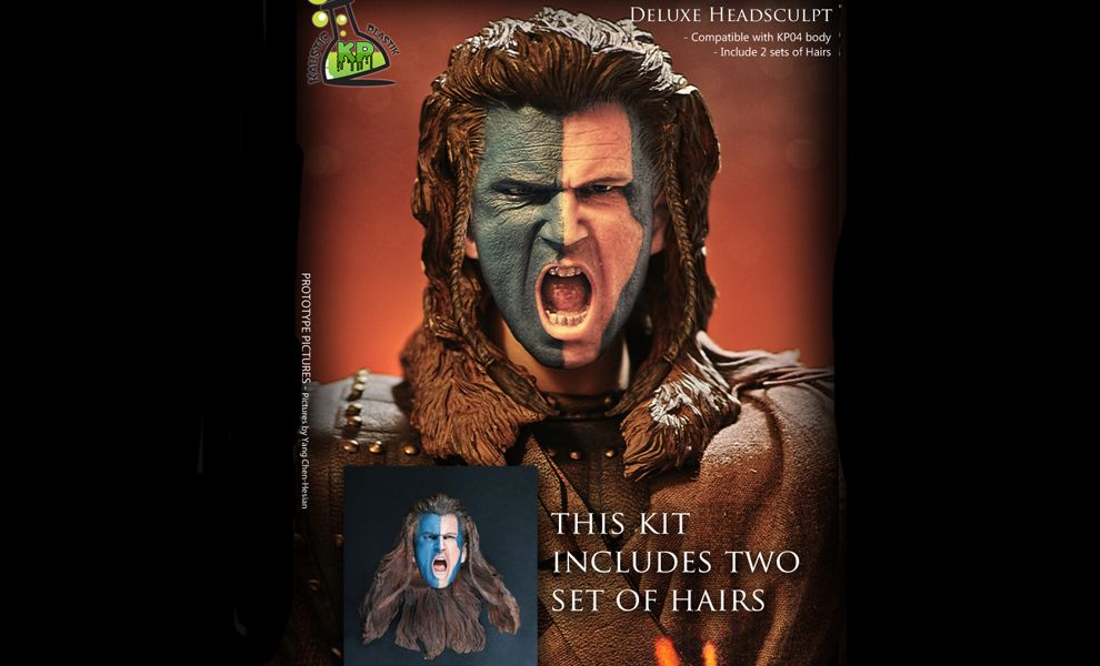 KAUSTIC PLASTIK BRAVEHEART WILLIAM WALLACE Scottish Highlander KP02 HEAD