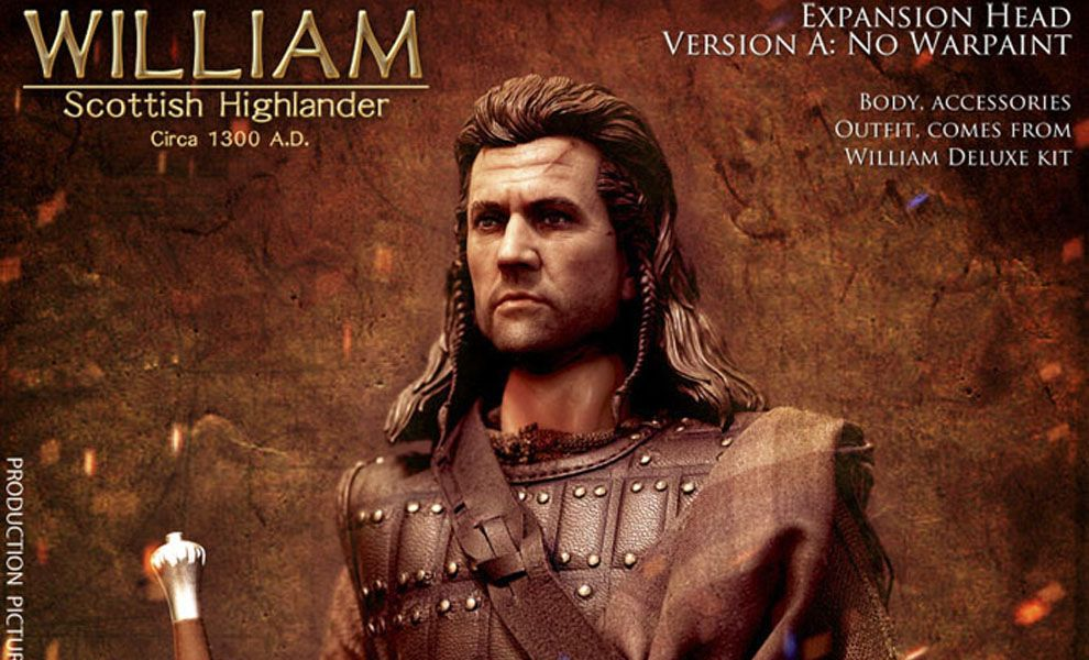 KAUSTIC PLASTIK KP10HEAD-A BRAVEHEART WILLIAM WALLACE SCOTTISH HIGHLANDER EXPANSION HEAD VERSION A NORMAL