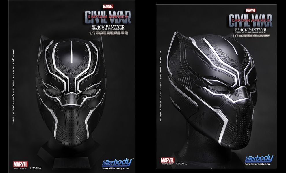 KILLERBODY 1:1 CAPTAIN AMERICA CIVIL WAR BLACK PANTHER