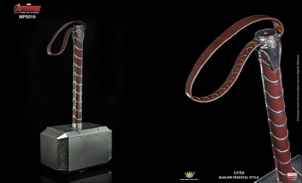 KING ARTS MPS019 1/1TH AVENFERS 2 THOR MJOLNIR PEDESTAL STYLE
