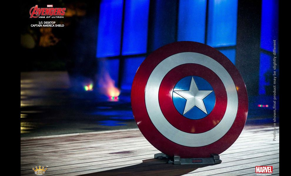 KING ARTS MPS023 AVENGERS AGE OF ULTRON DESKTOP 1/1 CAPTAIN AMERICA SHIELD