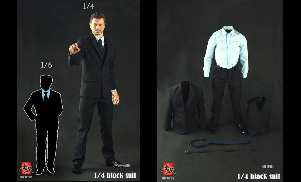 KM TOYS KM001 BLACK SUIT 1/4 TONY STARK IRON MAN