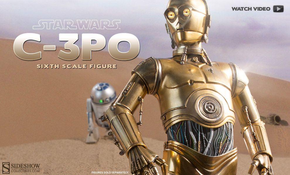 SIDESHOW STAR WARS C-3PO SIXTH SCALE FIGURE