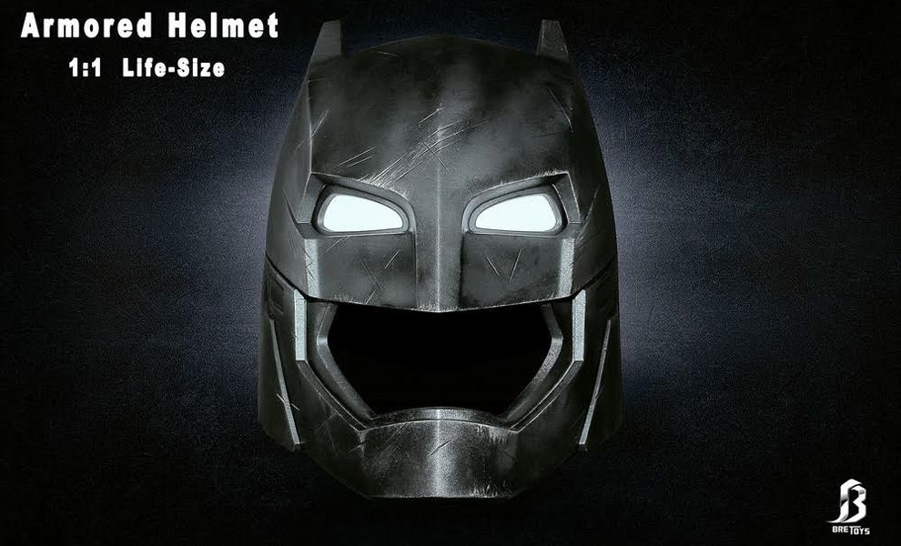 BRETOYS BATMAN V SUPERMAN BATMAN ARMORED HELMET LIFE SIZE