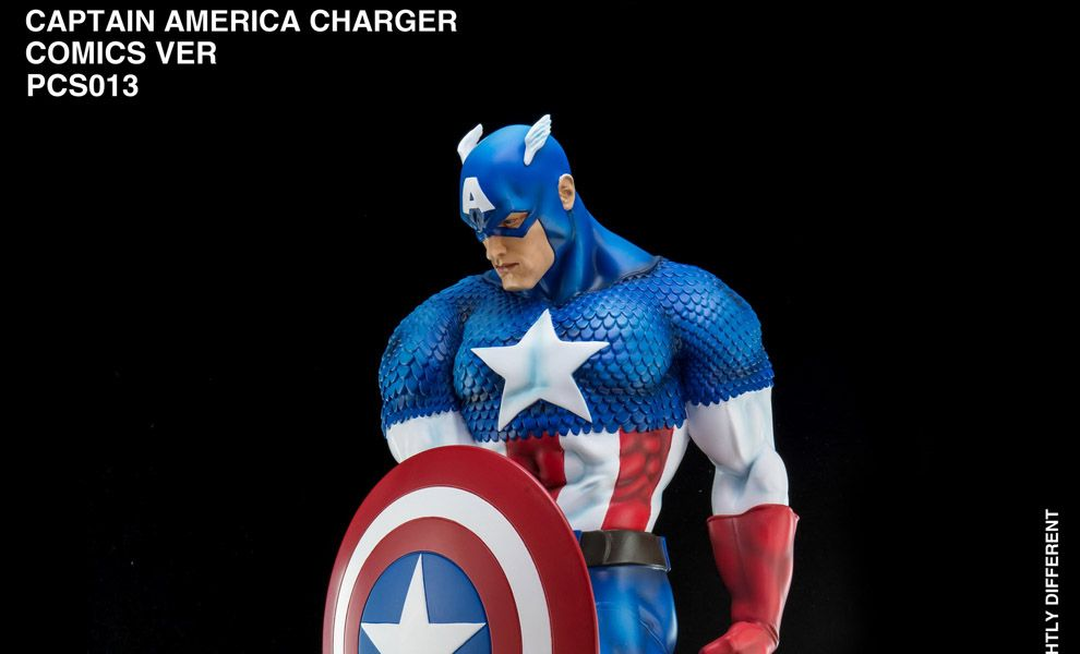 KING ARTS HIGH FLY STUDIO PCS013 POWER CHARGER CAPTAIN AMERICA COMIC