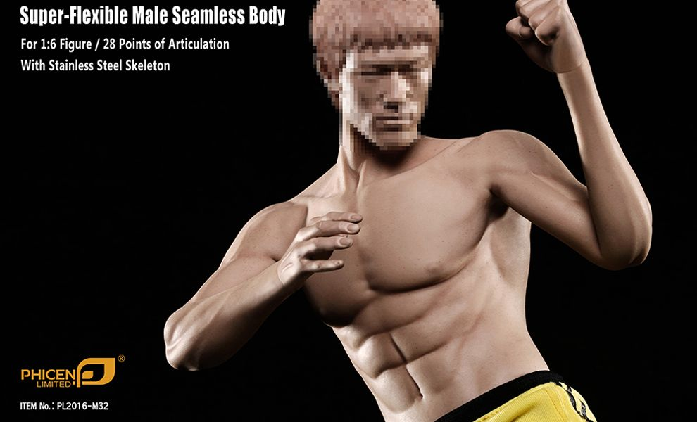 PHICEN SUPER FLEXIBLE MALE ASIAN BODY PL2016-M32 SEAMLESS BODY