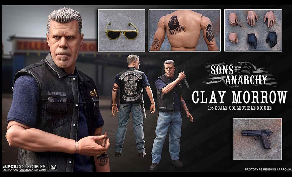 POP CULTURE SHOCK TOYS SONS OF ANARCHY CLAY MORROW