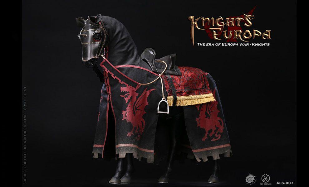 POPTOYS ALS007 Armor Legend Series-The Era of Europa War Black armor horse Banner