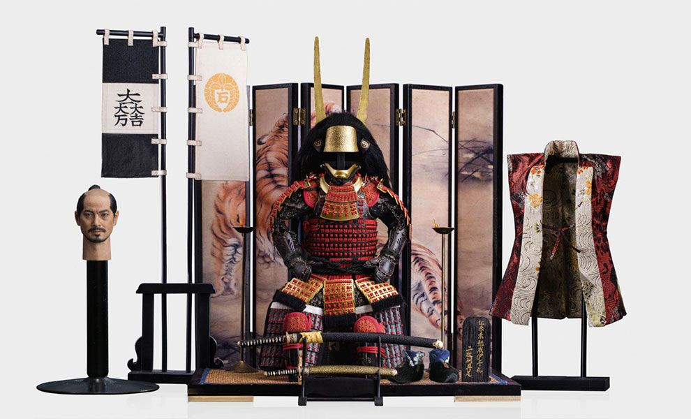 POPTOYS EX029 Ishida MitsunariRed armor and accessories package banner
