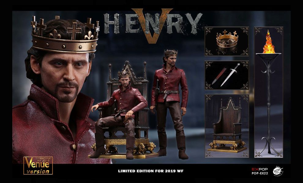 POPTOYS POP-EX22 SHANGHAI 2019 WF Expo Limited King Henry V of England Throne Version Banner