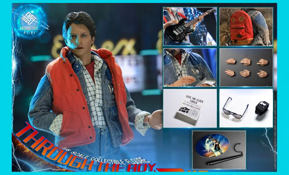 PRESENT TOYS PT-SP21 MARTHY MCFLY BACK TO THE FUTURE TIME TRAVEL MAN BANNER