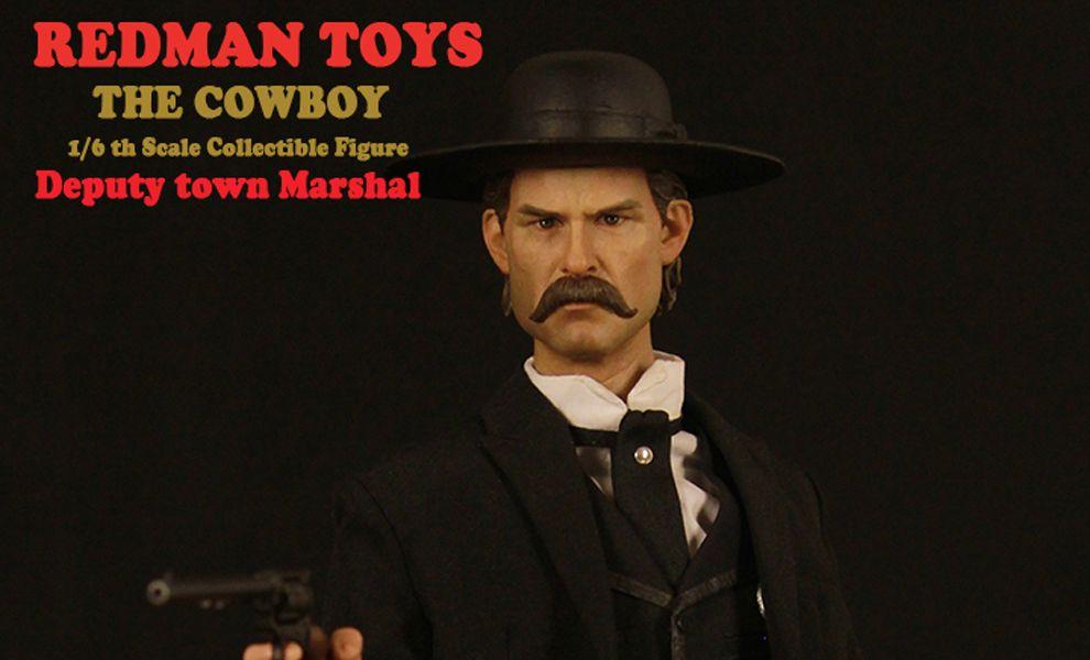 REDMAN TOYS RM019 THE COWBOY KURT RUSSELL AS WYATT ERP DEPUTY TOWN MARSHAL TOMBSTONE