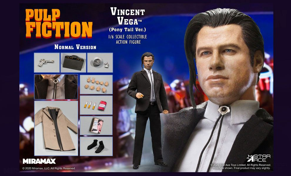 Star Ace Pulp Fiction My Favourite Movie Action Figure 1/6 Vincent Vega 2.0 (Pony Tail)