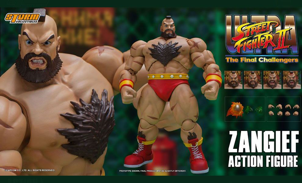 STORM COLLECTIBLES ULTRA STREET FIGHTER II THE FINAL CHALLENGERS ZANGIEF BANNER