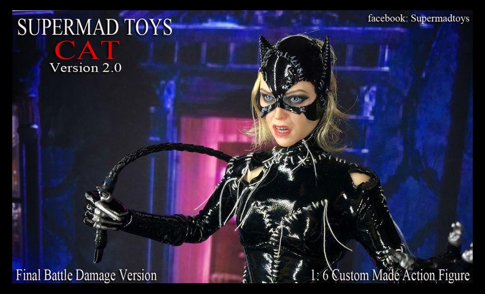 SUPERMAD TOYS CAT VERSION 2.0 CATWOMAN FINAL BATTLE DAMAGED VERSION