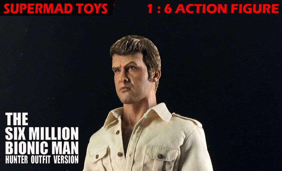 Supermad Toys The Six Million Dollar Man Hunter Outfit Version Lee Majors as Steve Austin