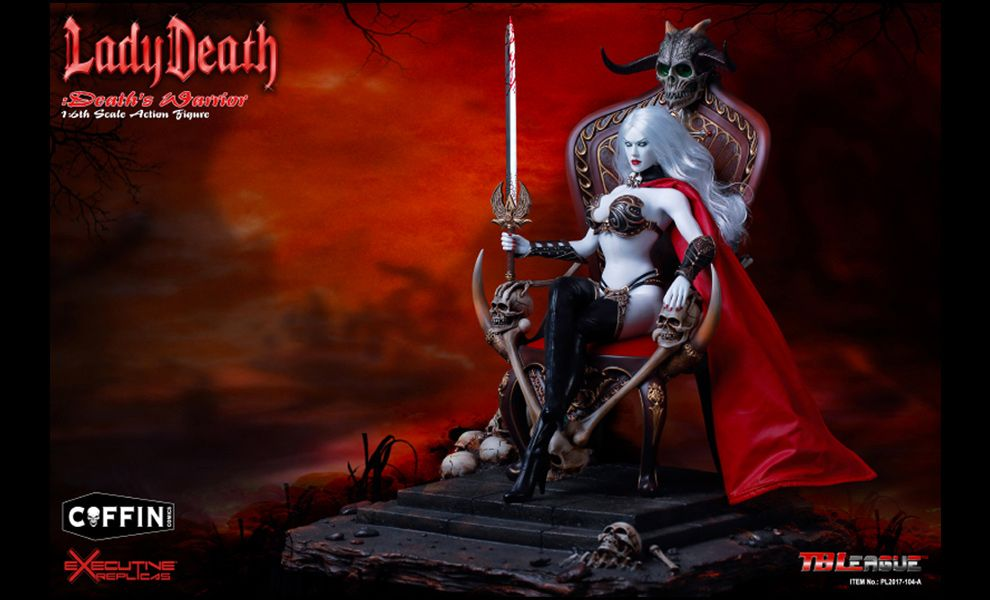 TBLeague-PL2017-104A-DELUXE-Lady-Death-Death's-Warrior-V2-Action-Figure-with-Base-and-Throne