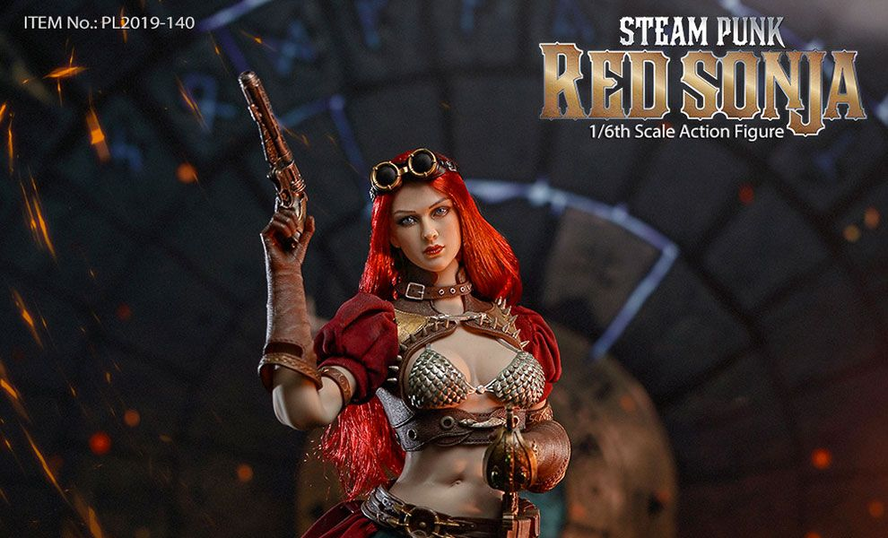 TBLEAGUE PL2019-140-A Red Sonja Action Figure 1/6 Steampunk Red Sonja Classic Version Banner