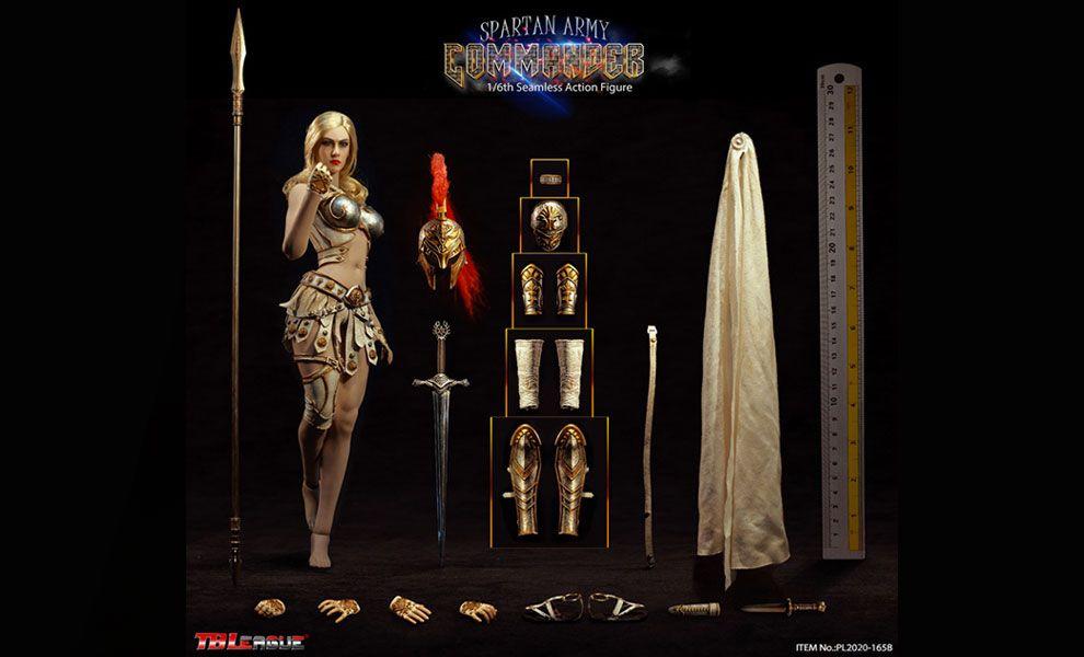 TBLeague  PL2020-165B Spartan Army Commander 1/6 Scale Action Figure Silver Commander Banner