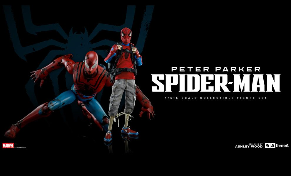 THREEA 3A MARVEL PETER PARKER SPIDER-MAN 1/6TH SCALE COLLECTIBLE FIGURE SET