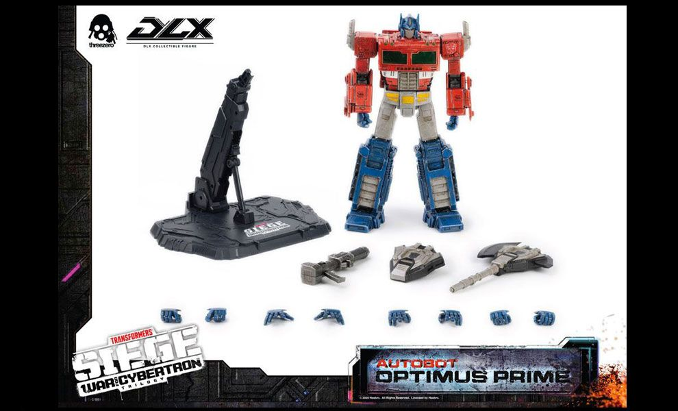 THREEZER 3Z0202 Transformers War For Cybertron Trilogy DLX Action Figure Optimus Prime Banner