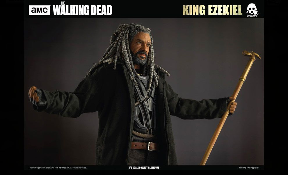 THREEZERO 3Z0090 The Walking Dead Action Figure King Ezekiel Banner
