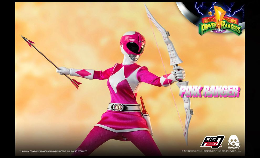 Threezero 3Z0196 Mighty Morphin Power Rangers FigZero Pink Ranger Banner