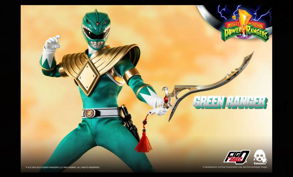 Threezero 3Z0200 Mighty Morphin Power Rangers FigZero Green Ranger Banner
