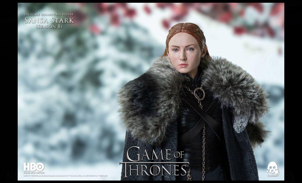 Threezero Game of Thrones Action Figure 1/6 Sansa Stark Season 8 FIGURE BANNER