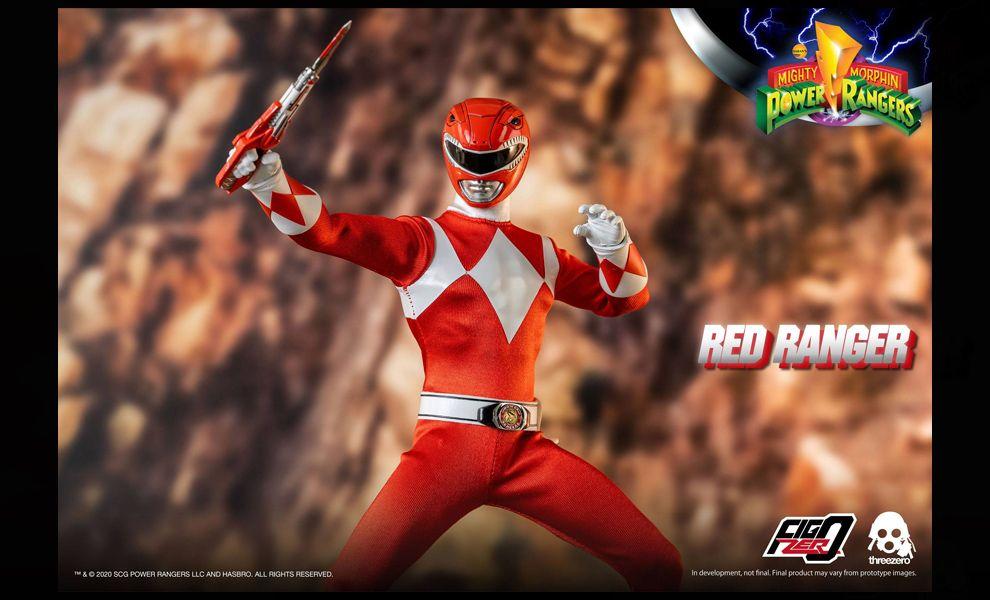 Threezero Mighty Morphin Power Rangers FigZero Red Ranger Banner